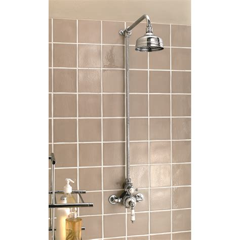 external shower valve exposed thermostatic dual valve with