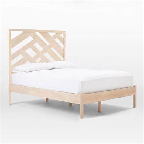 master bedroom abstract fretwork bed west elm queen