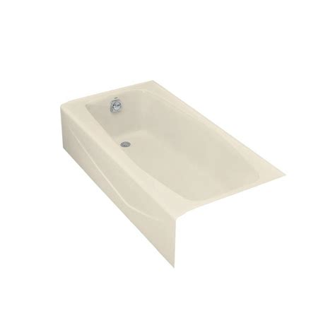 kohler villager bathtub drain kohler villager 5 ft left drain cast iron bathtub in