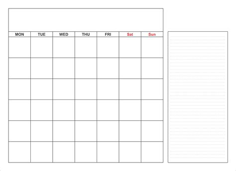 blank calendar template monthly word excel