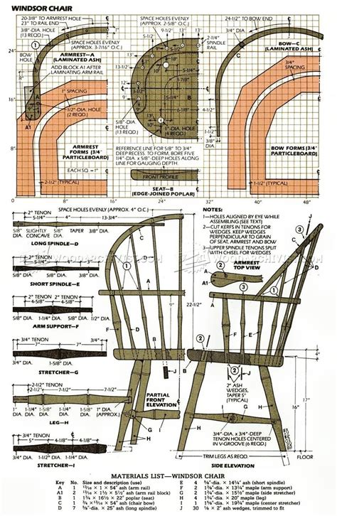 classis windsor chair plans furniture plans