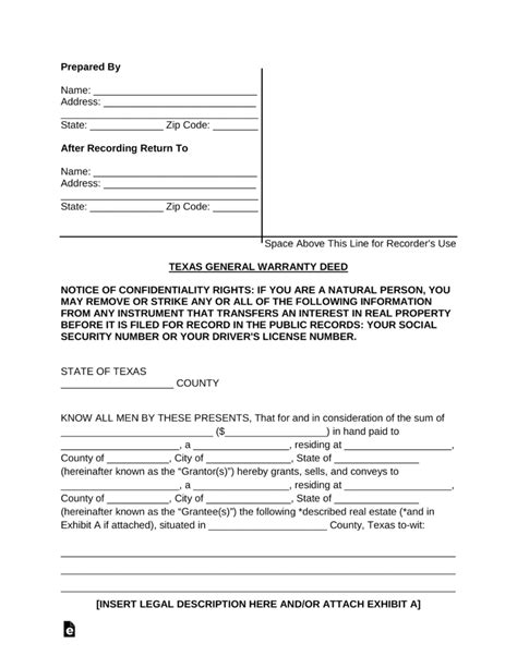 texas property deed form property deed