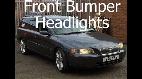 remove headlights  front bumper volvo