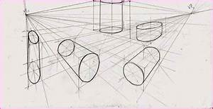 Two Point Perspective Cylinder Drawing Simple Image Gallery