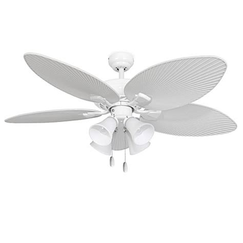 52 inch white ceiling fan 52 inch simonton 4 light white ceiling fan bed bath beyond