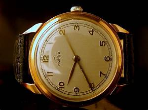 18ct Rose Gold Gents Vintage Manual Wind Omega From 1947