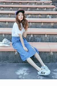 Denim Skirts Outfit Ideas 2018   FashionTasty.com