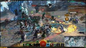 Guild Wars 2 Battling For An Ice Encampment Gameplay