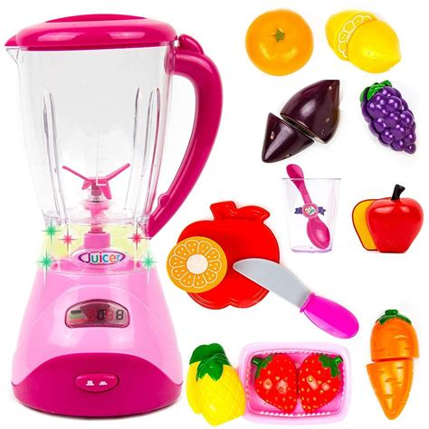 Playset Electronic Blender by Toysery Electric Realistic Fruit Blender Kitchen Appliance