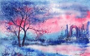 Bilder Bäume Gemalt : gemalt baum fluss bogen nacht hintergrundbilder 1920x1200 hintergrundbilder download de ~ Orissabook.com Haus und Dekorationen