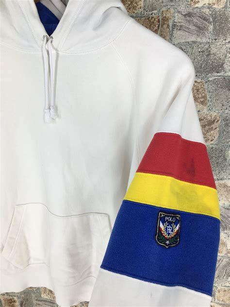 Buy polo ralph lauren women's clothing at house of fraser. POLO RALPH LAUREN Pullover Hoodie Medium Women Vintage 90 ...