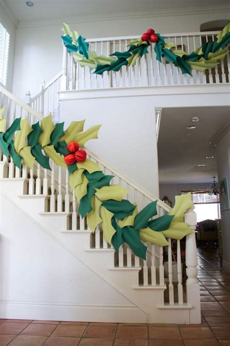 Paper Holly and Berry Garland