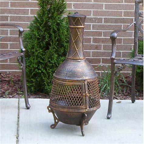 Chiminea Wood - outdoor patio fireplace backyard pit chiminea wood