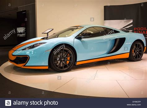 Light Blue Sports Cars by 2013 Light Blue Orange Mclaren Mp4 12c Coupe