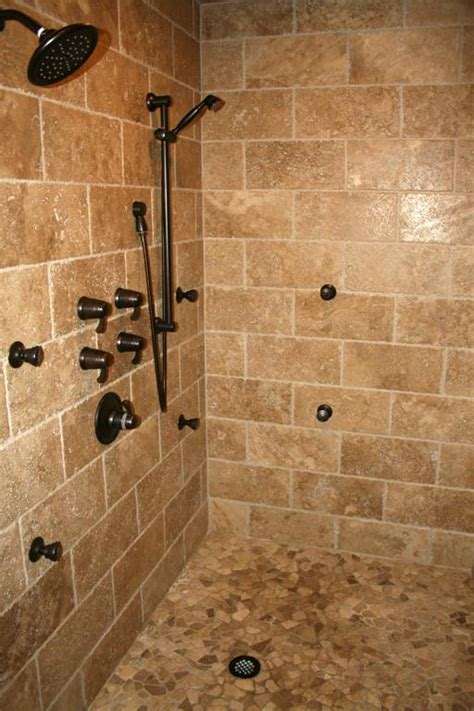 walk in shower design ideas with porcelain tiles