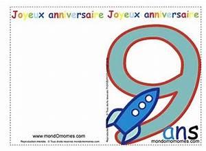 Carte Anniversaire Fille 9 Ans : carte anniversaire 10 ans fille ~ Melissatoandfro.com Idées de Décoration