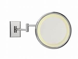 miroir salle de bain grossissant lumineux mural idees de With miroir grossissant articulé salle bain