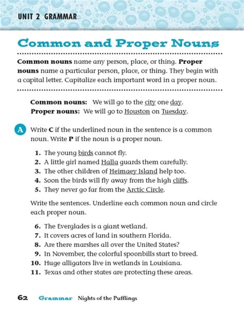common and proper adjectives worksheet 7th grade 1000