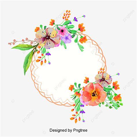 Pink Flower Borders Creative Flowers Frame PNG