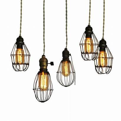 Industrial Lighting Cage Lights Fixtures Bulbs Antique