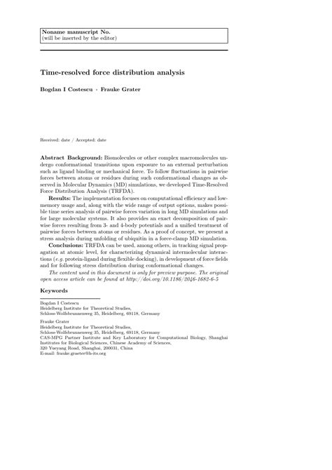 Springer - Artificial Intelligence Review Template