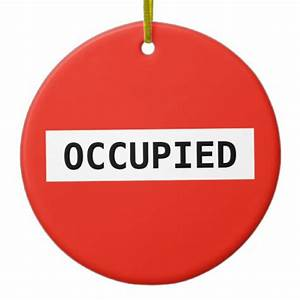 Occupied no entry traffic sign ornament Zazzle