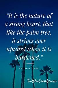 Be strong like ... Inspiring Palm Tree Quotes