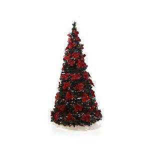 winter lane 6 poinsettia decorated pop up christmas tree