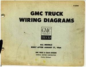 Gmc Truck Wiring Diagrams All After 8 1964