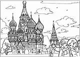 Temple Coloring Russian sketch template