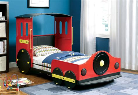 retro train twin metal car bed frame theme beds  kids