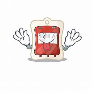Tongue Out Science Beaker Mascot Cartoon Stock Vector