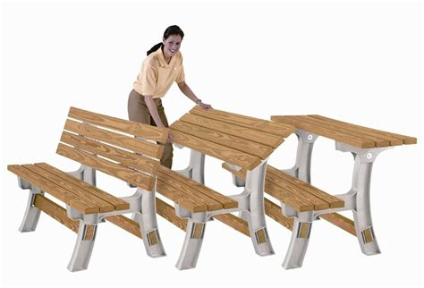 Picnic Table Bench Kit by Bench Picnic Table Convertible Flip Top Patio Outdoor