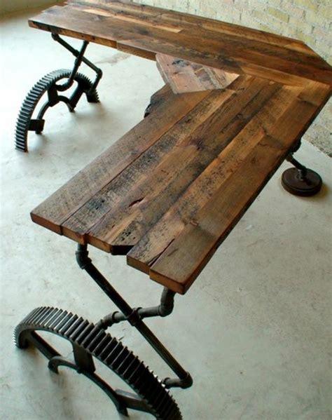 schreibtisch selber bauen industrial design möbel für mehr stil in ihrem wohnraum