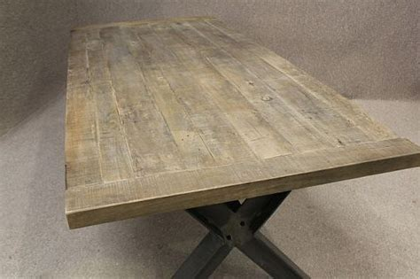 metal base table  sturdy industrial style table