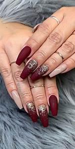 22 stunning fall nail ideas for autumn 2020 burgundy
