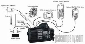 Standard Horizon Gx5000s Quantum Vhf Radio  Dsc  30 Watt Pa