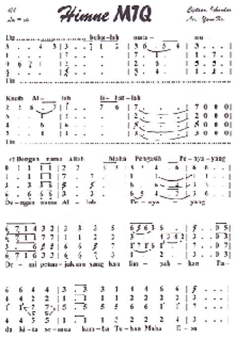 koleksi not angka not angka mars mtq