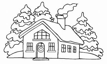 Casas Colorear Dibujos Imprimir Gratis