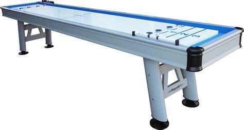 used outdoor shuffleboard table playcraft 9 39 extera silver outdoor shuffleboard table