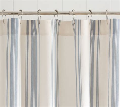 pottery barn shower curtains evan stripe shower curtain pottery barn