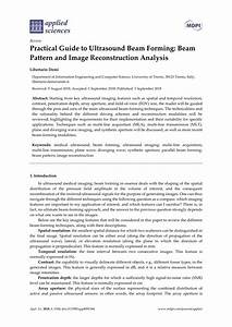 Pdf  Practical Guide To Ultrasound Beam Forming  Beam Pattern And Image Reconstruction Analysis