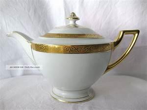 Altes Geschirr Mit Goldrand : thomas porzellan teekanne bavaria 9128 5 mit goldrand art deco um 1930 ~ Sanjose-hotels-ca.com Haus und Dekorationen