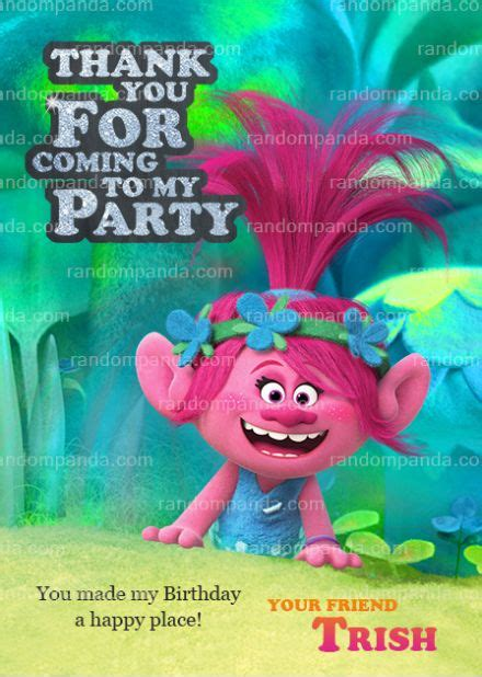 trolls   card poppy  branch party trolls