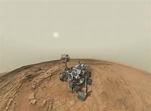 NASA's mars curiosity rover self portrait panorama