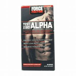 Force Factor Test X180 Alpha Free Testosterone Booster  60 Caps