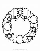 Hanukkah Coloring Pages Wreath Printable Pdf Primarygames Adults Super sketch template