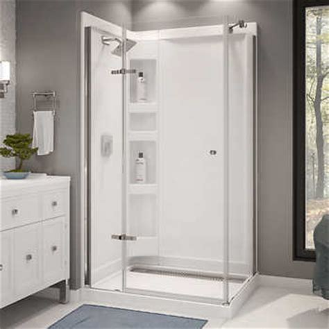 walk in shower kits maax athena corner shower kit