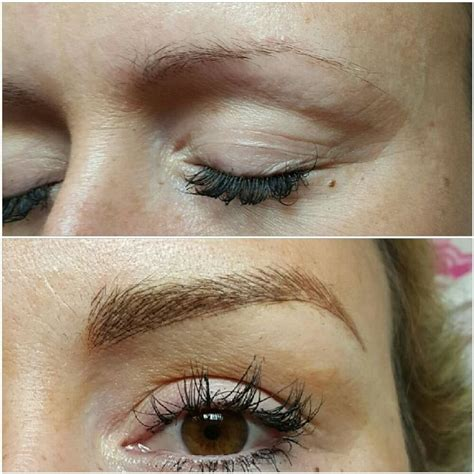 microblading  feather stroke eyebrows images