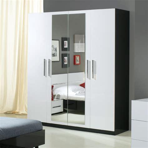 armoir cuisine armoire 4 portes gloria noir et blanc blanc noir